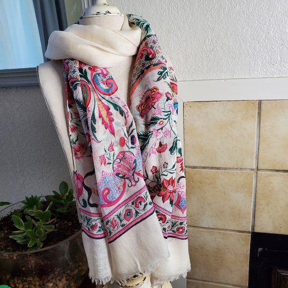 """NWT J Crew floral long wrap style scarf 80""""x31"""""""